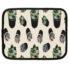 Succulent Plants Pattern Lights Netbook Case (xl)  by Simbadda