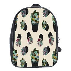 Succulent Plants Pattern Lights School Bags(large)  by Simbadda