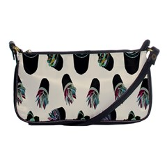Succulent Plants Pattern Lights Shoulder Clutch Bags by Simbadda