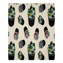 Succulent Plants Pattern Lights Shower Curtain 60  X 72  (medium)  by Simbadda