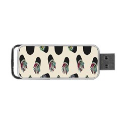 Succulent Plants Pattern Lights Portable Usb Flash (one Side) by Simbadda