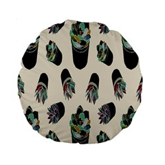 Succulent Plants Pattern Lights Standard 15  Premium Round Cushions by Simbadda