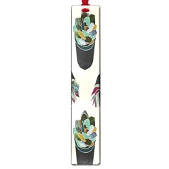Succulent Plants Pattern Lights Large Book Marks by Simbadda