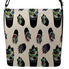 Succulent Plants Pattern Lights Flap Messenger Bag (s) by Simbadda