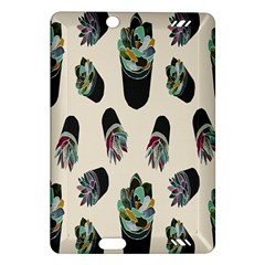 Succulent Plants Pattern Lights Amazon Kindle Fire Hd (2013) Hardshell Case by Simbadda