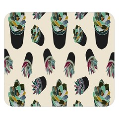 Succulent Plants Pattern Lights Double Sided Flano Blanket (small)  by Simbadda