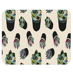 Succulent Plants Pattern Lights Double Sided Flano Blanket (medium)  by Simbadda