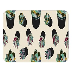 Succulent Plants Pattern Lights Double Sided Flano Blanket (large)  by Simbadda