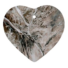 Earth Landscape Aerial View Nature Ornament (heart) by Simbadda