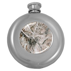Earth Landscape Aerial View Nature Round Hip Flask (5 Oz) by Simbadda