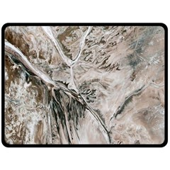 Earth Landscape Aerial View Nature Double Sided Fleece Blanket (large)  by Simbadda