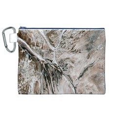 Earth Landscape Aerial View Nature Canvas Cosmetic Bag (xl) by Simbadda