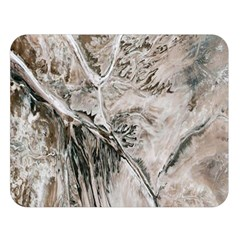 Earth Landscape Aerial View Nature Double Sided Flano Blanket (large)  by Simbadda
