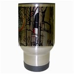 Cityscapes England London Europe United Kingdom Artwork Drawings Traditional Art Travel Mug (Silver Gray) Center