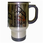 Cityscapes England London Europe United Kingdom Artwork Drawings Traditional Art Travel Mug (Silver Gray) Right