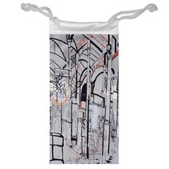 Cityscapes England London Europe United Kingdom Artwork Drawings Traditional Art Jewelry Bag by Simbadda