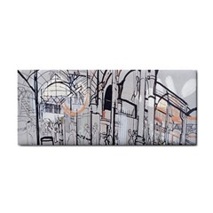 Cityscapes England London Europe United Kingdom Artwork Drawings Traditional Art Cosmetic Storage Cases by Simbadda