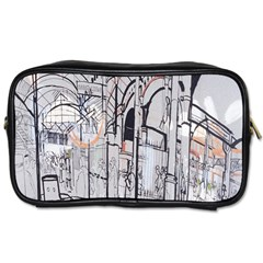 Cityscapes England London Europe United Kingdom Artwork Drawings Traditional Art Toiletries Bags