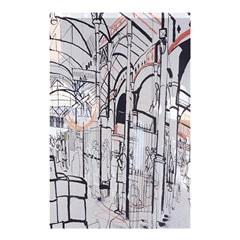Cityscapes England London Europe United Kingdom Artwork Drawings Traditional Art Shower Curtain 48  X 72  (small)  by Simbadda