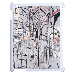 Cityscapes England London Europe United Kingdom Artwork Drawings Traditional Art Apple Ipad 2 Case (white) by Simbadda