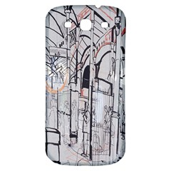 Cityscapes England London Europe United Kingdom Artwork Drawings Traditional Art Samsung Galaxy S3 S Iii Classic Hardshell Back Case by Simbadda