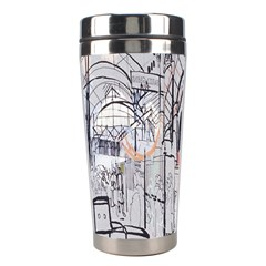Cityscapes England London Europe United Kingdom Artwork Drawings Traditional Art Stainless Steel Travel Tumblers by Simbadda
