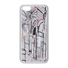 Cityscapes England London Europe United Kingdom Artwork Drawings Traditional Art Apple Iphone 5c Seamless Case (white) by Simbadda