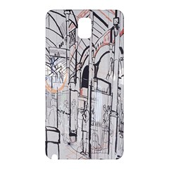Cityscapes England London Europe United Kingdom Artwork Drawings Traditional Art Samsung Galaxy Note 3 N9005 Hardshell Back Case by Simbadda