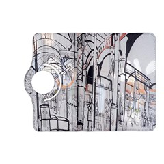 Cityscapes England London Europe United Kingdom Artwork Drawings Traditional Art Kindle Fire Hd (2013) Flip 360 Case by Simbadda