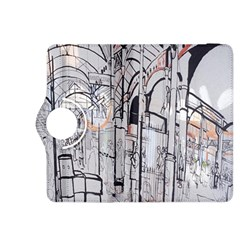 Cityscapes England London Europe United Kingdom Artwork Drawings Traditional Art Kindle Fire Hdx 8 9  Flip 360 Case by Simbadda