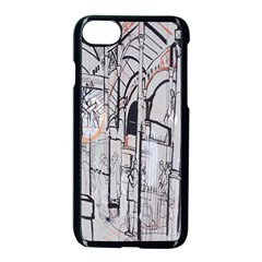 Cityscapes England London Europe United Kingdom Artwork Drawings Traditional Art Apple Iphone 7 Seamless Case (black) by Simbadda