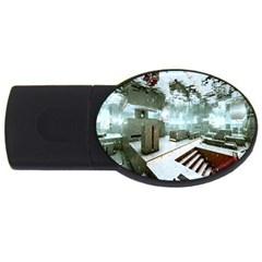 Digital Art Paint In Water Usb Flash Drive Oval (2 Gb) by Simbadda