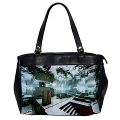 Digital Art Paint In Water Office Handbags by Simbadda