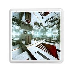 Digital Art Paint In Water Memory Card Reader (square)  by Simbadda
