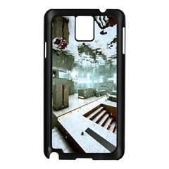 Digital Art Paint In Water Samsung Galaxy Note 3 N9005 Case (Black)