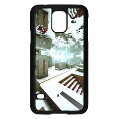 Digital Art Paint In Water Samsung Galaxy S5 Case (black) by Simbadda