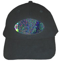 Glitch Art Black Cap by Simbadda
