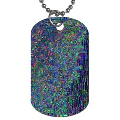 Glitch Art Dog Tag (One Side)