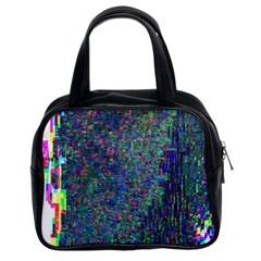 Glitch Art Classic Handbags (2 Sides) by Simbadda