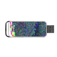 Glitch Art Portable Usb Flash (one Side) by Simbadda