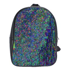 Glitch Art School Bags (xl)