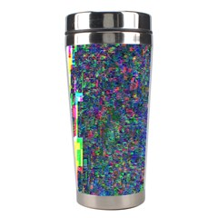 Glitch Art Stainless Steel Travel Tumblers