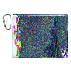 Glitch Art Canvas Cosmetic Bag (xxl) by Simbadda