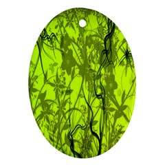 Concept Art Spider Digital Art Green Ornament (oval) by Simbadda