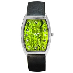 Concept Art Spider Digital Art Green Barrel Style Metal Watch