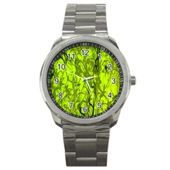 Concept Art Spider Digital Art Green Sport Metal Watch by Simbadda