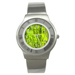 Concept Art Spider Digital Art Green Stainless Steel Watch by Simbadda