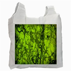 Concept Art Spider Digital Art Green Recycle Bag (two Side)  by Simbadda