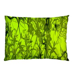 Concept Art Spider Digital Art Green Pillow Case (two Sides) by Simbadda