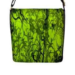 Concept Art Spider Digital Art Green Flap Messenger Bag (l)  by Simbadda